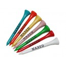 Golf Tees 54mm Hardwood Printed with 1 Shank Colour