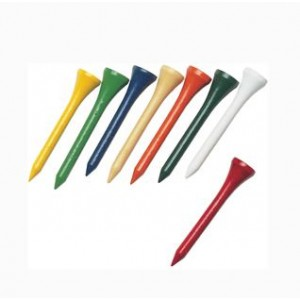Wooden Golf Tees 53mm Assorted Colours