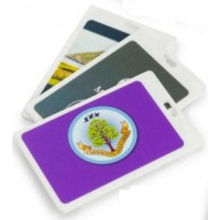 Rectangle Plastic Golf Bag Tags One Colour Print- 1 Side