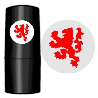 Golf Ball Stamp Red Lion
