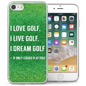 Personalised phone case for golfers