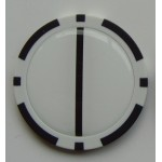 Poker Chip Golf Ball Alignment Marker