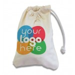 Printed Drawstring Cotton Bag