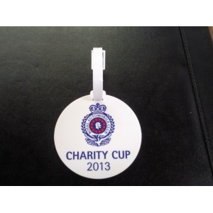 Round Plastic Golf Bag Tags Full Colour Print- 1 Side (Double Sided by quotation)