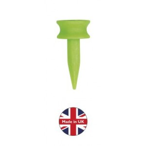 plastic castle golf tees 25mm lime-graduated golf tees
