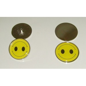 twin grin metal golf ball markers with spike or flat