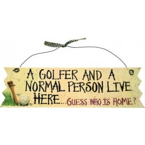 Novelty Golf Wall Sign