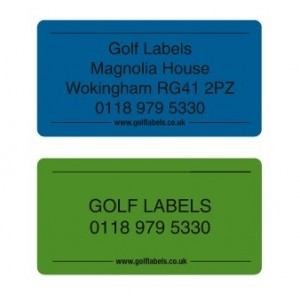 golf labels - golf shaft labels blue or green