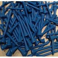 Golf Tees Wood 70mm Blue x 20