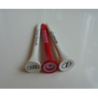 Hardwood Golf Tees 54mm Stem and Cup Printed with 1 Colour