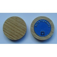 Enamel Golf Ball Marker With Solid Wood Holder