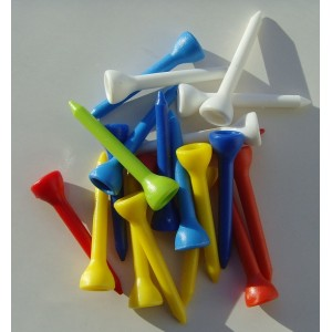 Plastic Golf Tees - End of Line x 20