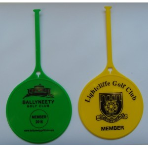 Flexi Tag Golf Bag Tags One Colour Print- 1 Side Only
