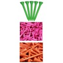 Quality Hardwood Neon Golf Tees 70mm - Plain Tees
