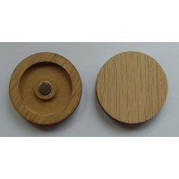 Enamel Golf Ball Marker With Composite Wood Holder