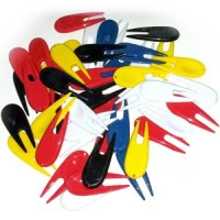plastic pitch mark repair tool - assorted colours