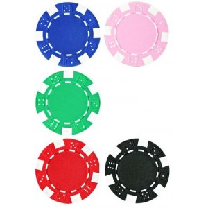 Dice Poker Chips  x 10 (£1)