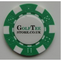 poker chip golf ball marker with resin dome
