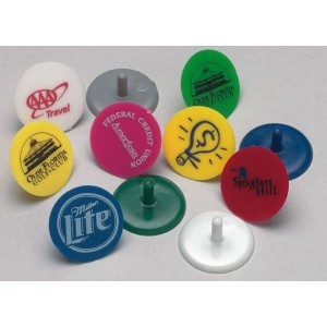 Plastic Printed Golf Ball Markers