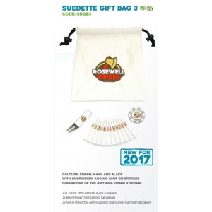 Suedette Drawstring Golf Gift Bag - SDGB3