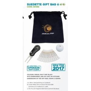 Suedette Drawstring Golf Gift Bag - SDGB6
