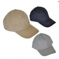 Stone Washed 100% Cotton 6 Panel Peaked Baseball Caps