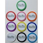 Poker Chip Golf Ball Marker With Laminated Label on Both Sides