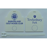 Sunrise Plastic Golf Bag Tags One Colour Print- 1 Side