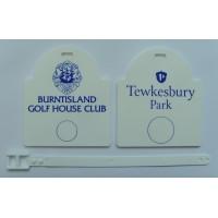 Sunrise Plastic Golf Bag Tags One Colour Print- 1 Side
