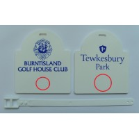 Sunrise Plastic Golf Bag Tags Two Colour Print- 1 Side