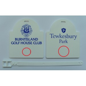 Sunrise Plastic Golf Bag Tags Two Colour Print- 1 Side