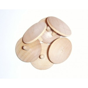 wood golf ball marker in bulk-plain