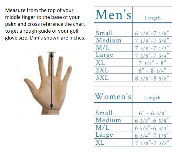 golf glove sizing